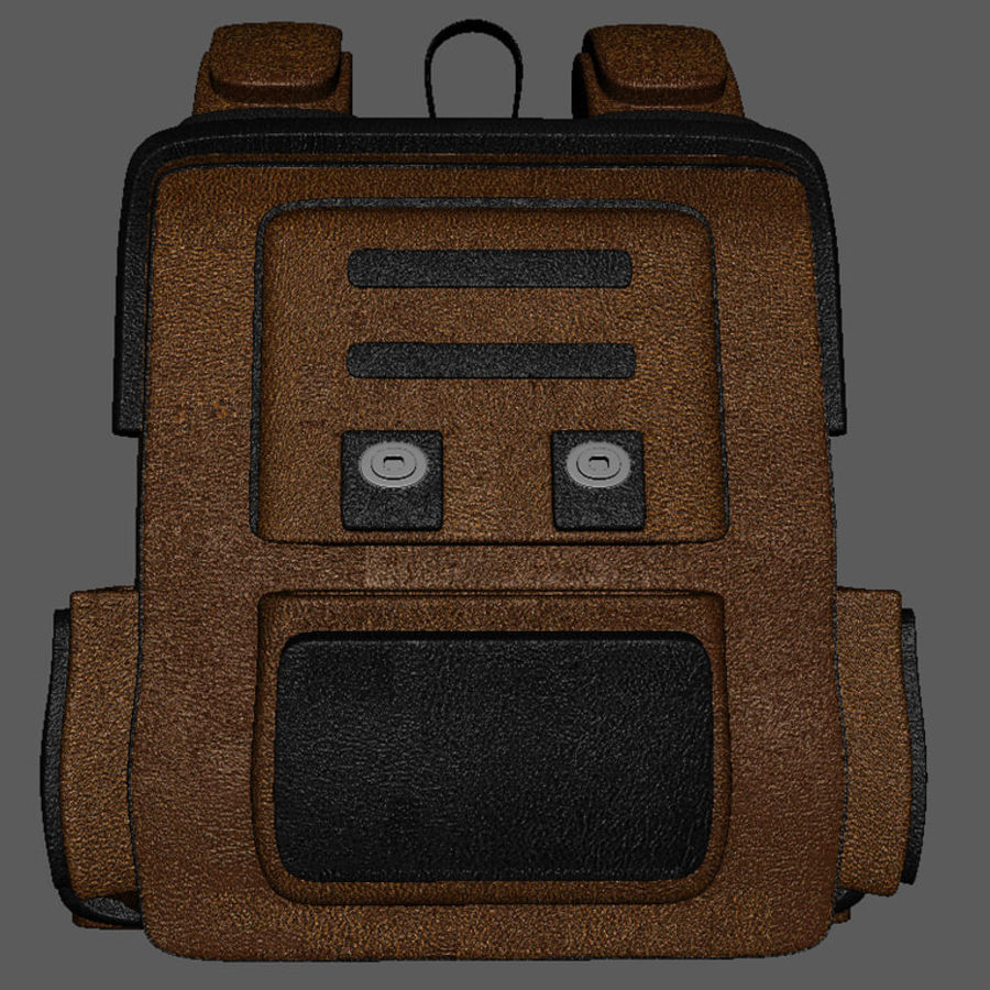 Backpack Cartoon royalty-free 3d model - Preview no. 7