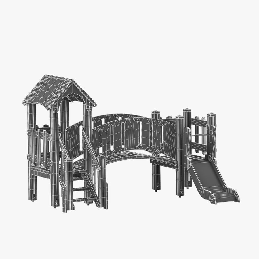 playground royalty-free 3d model - Preview no. 12