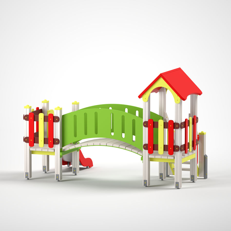 playground royalty-free 3d model - Preview no. 7