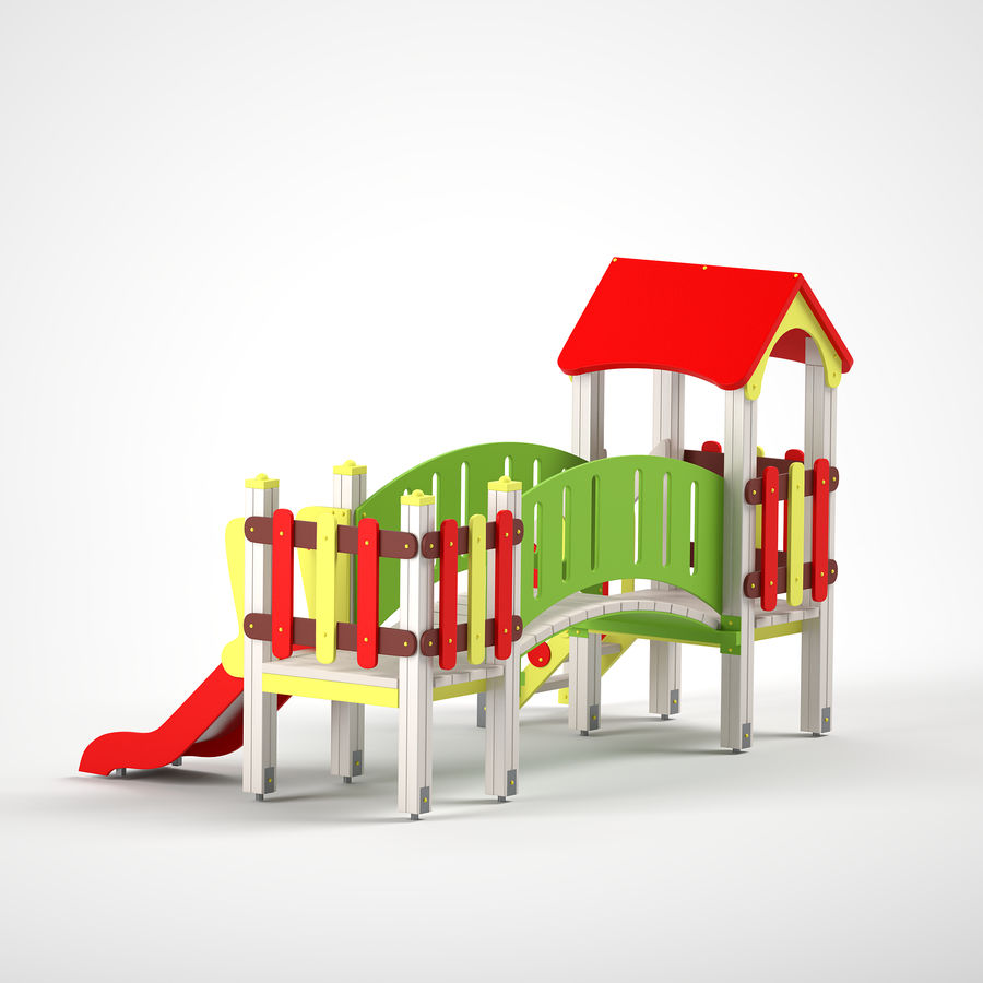 playground royalty-free 3d model - Preview no. 9