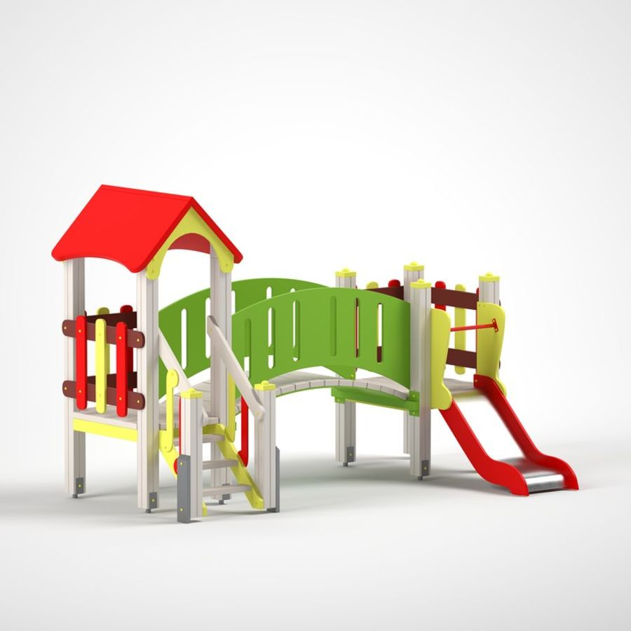 playground royalty-free 3d model - Preview no. 2