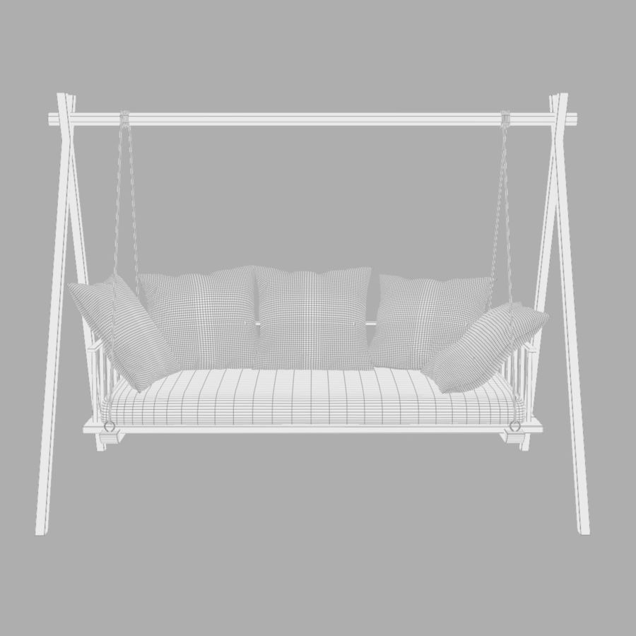 Undhoali Swing royalty-free 3d model - Preview no. 8