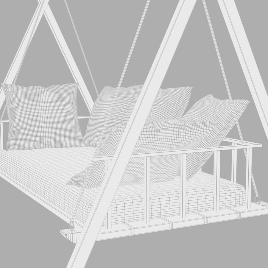 Undhoali Swing royalty-free 3d model - Preview no. 9