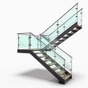 Modern Stair 3 3d model