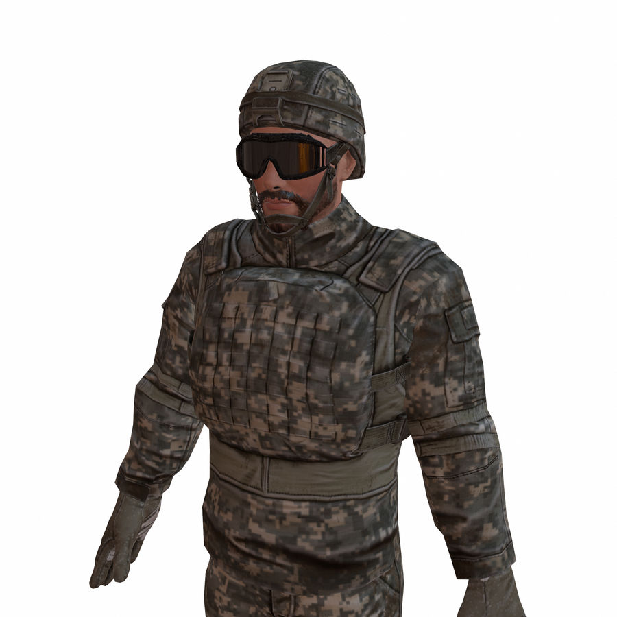 Special Forces Soldier royalty-free 3d model - Preview no. 2