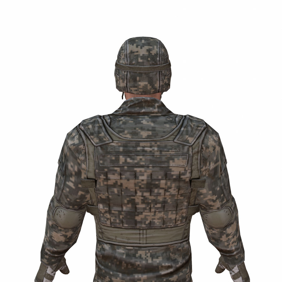 Special Forces Soldier royalty-free 3d model - Preview no. 1