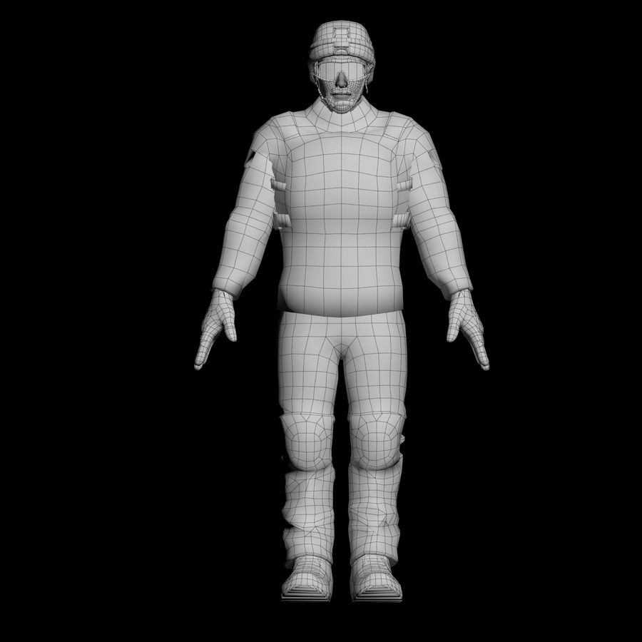 Special Forces Soldier royalty-free 3d model - Preview no. 4