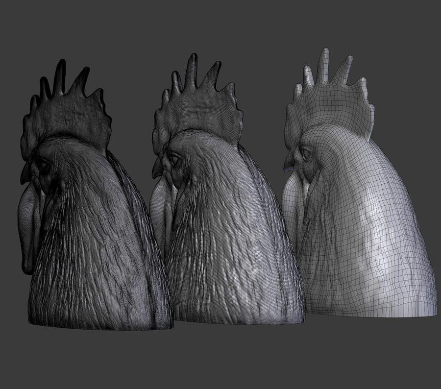 Голова петуха royalty-free 3d model - Preview no. 10