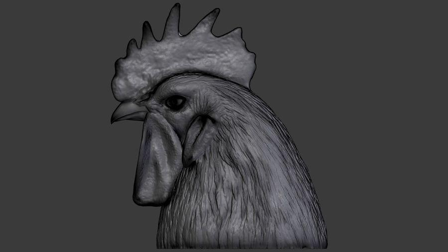 Голова петуха royalty-free 3d model - Preview no. 7