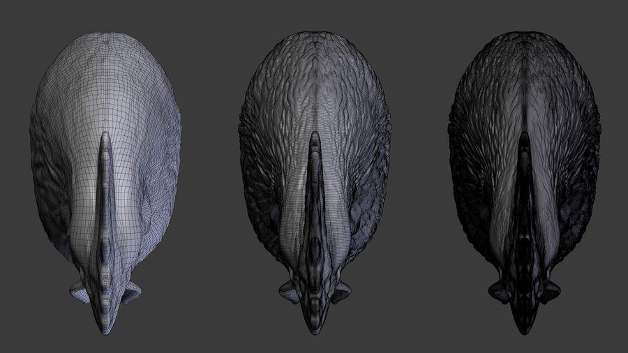 Голова петуха royalty-free 3d model - Preview no. 6