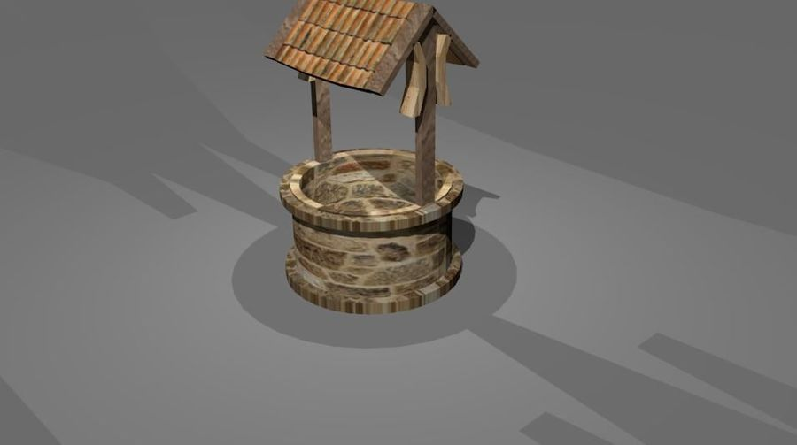 Water Well royalty-free 3d model - Preview no. 1