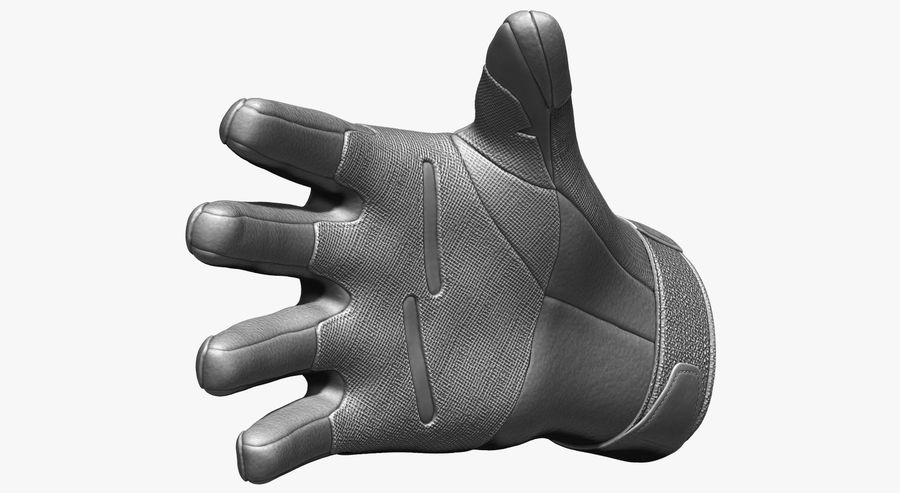 USA Army Gloves royalty-free 3d model - Preview no. 10
