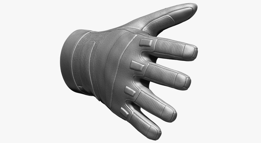 USA Army Gloves royalty-free 3d model - Preview no. 11