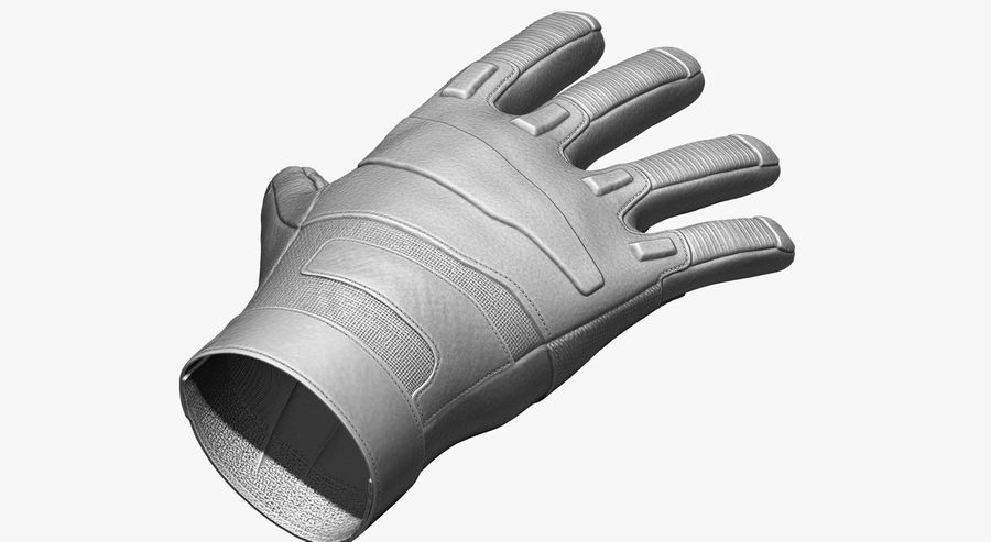 USA Army Gloves royalty-free 3d model - Preview no. 3