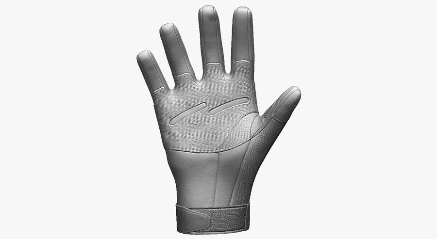 USA Army Gloves royalty-free 3d model - Preview no. 5