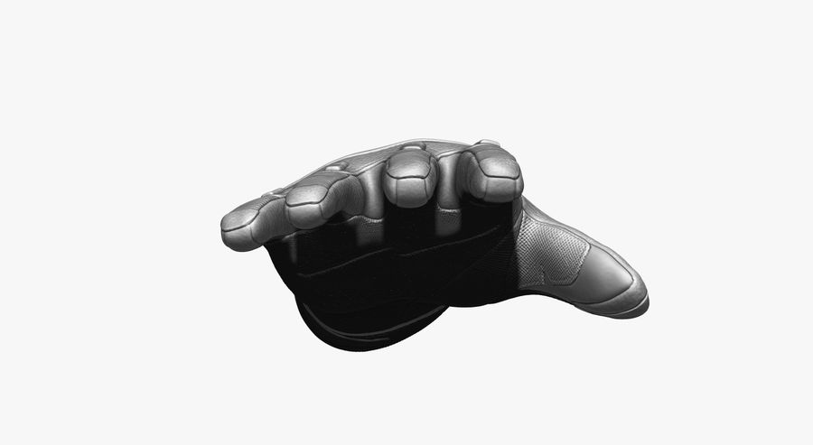 USA Army Gloves royalty-free 3d model - Preview no. 6
