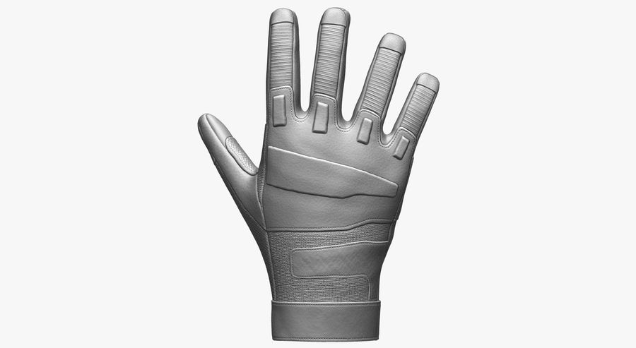 USA Army Gloves royalty-free 3d model - Preview no. 4