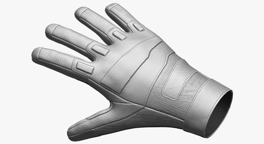 USA Army Gloves royalty-free 3d model - Preview no. 1