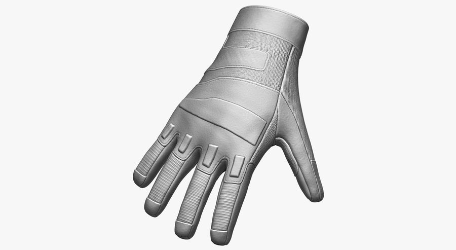 USA Army Gloves royalty-free 3d model - Preview no. 12