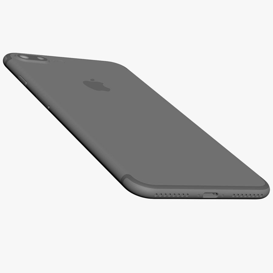 Apple iPhone 7 Plus + iPhone 7 Jet Black and Black royalty-free 3d model - Preview no. 46