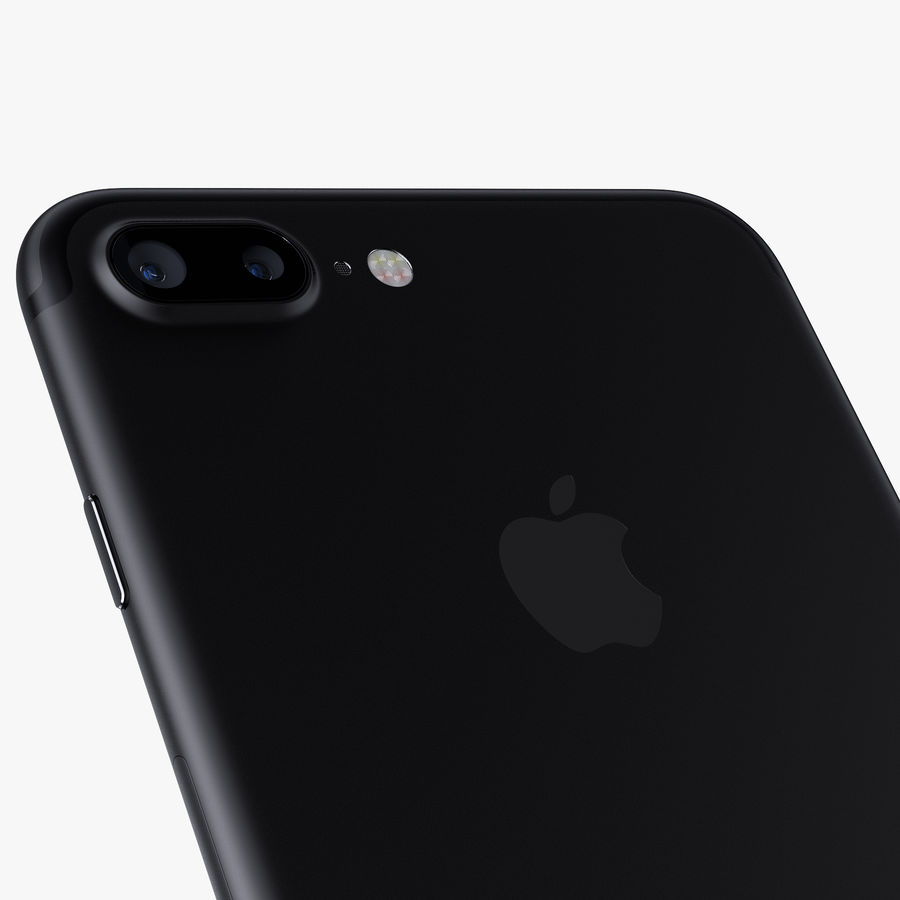 Apple iPhone 7 Plus + iPhone 7 Jet Black and Black royalty-free 3d model - Preview no. 15