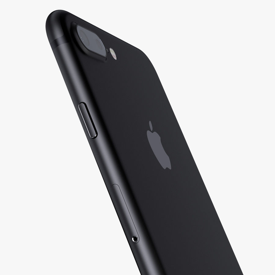 Apple iPhone 7 Plus + iPhone 7 Jet Black and Black royalty-free 3d model - Preview no. 19