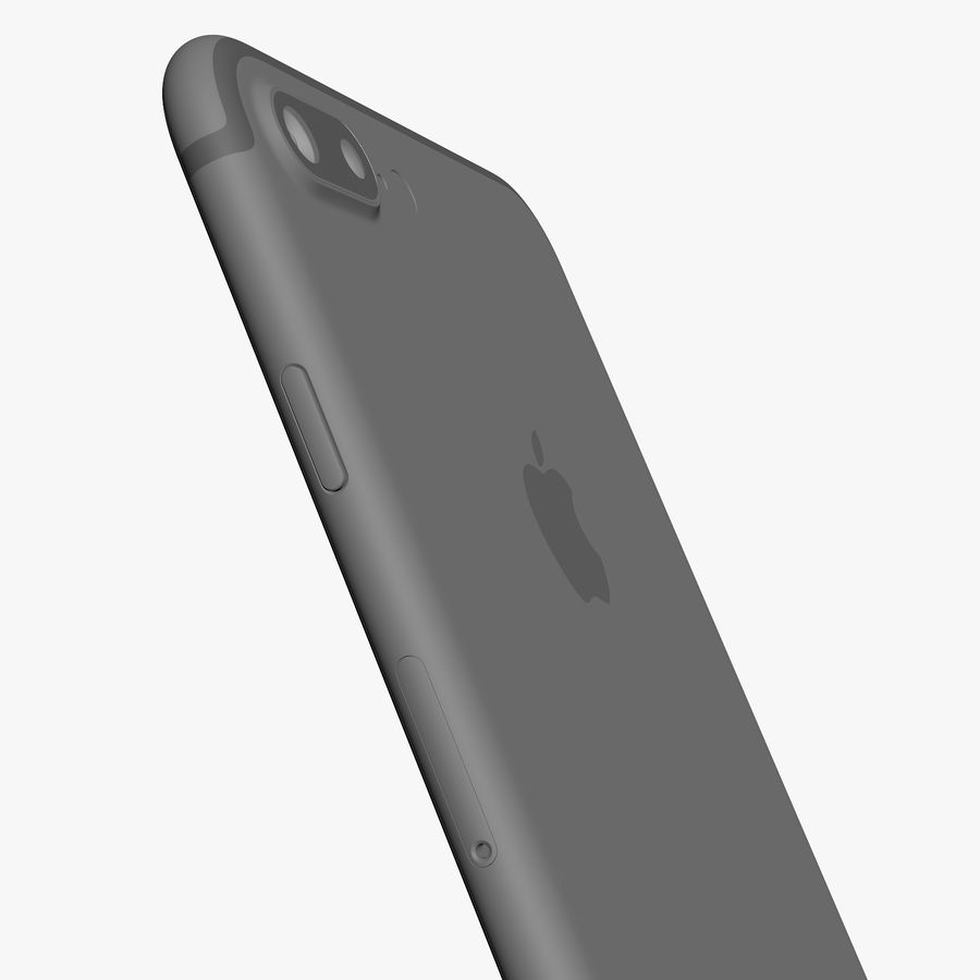 Apple iPhone 7 Plus + iPhone 7 Jet Black and Black royalty-free 3d model - Preview no. 49
