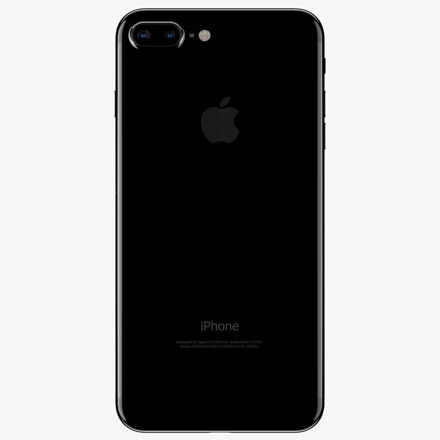 Apple iPhone 7 Plus + iPhone 7 Jet Black and Black royalty-free 3d model - Preview no. 4