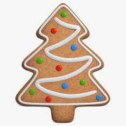 Gingerbread Cookie Tree 3d model