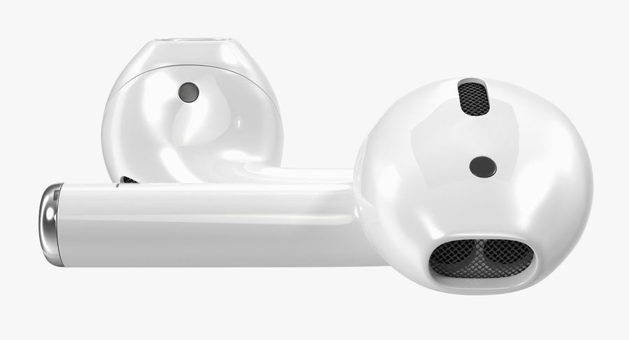 AirPods Wireless Earbuds royalty-free 3d model - Preview no. 4
