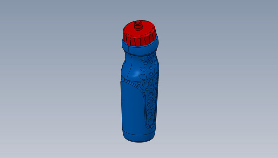 water bottle drink royalty-free 3d model - Preview no. 5
