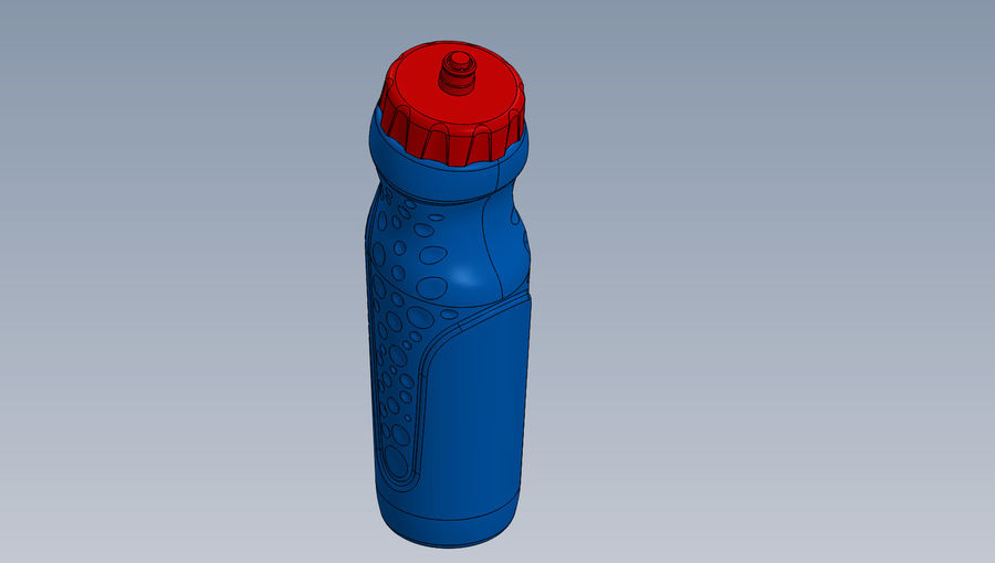 water bottle drink royalty-free 3d model - Preview no. 2