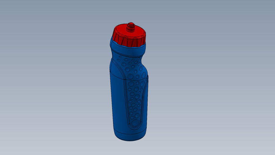 water bottle drink royalty-free 3d model - Preview no. 1