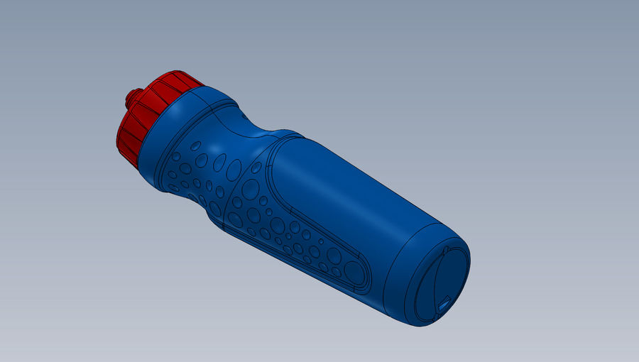 water bottle drink royalty-free 3d model - Preview no. 4