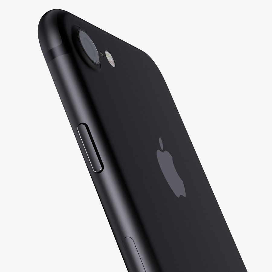 Apple iPhone 7 Jet Black and Black royalty-free 3d model - Preview no. 12