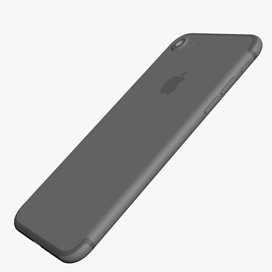 Apple iPhone 7 Jet Black and Black royalty-free 3d model - Preview no. 24