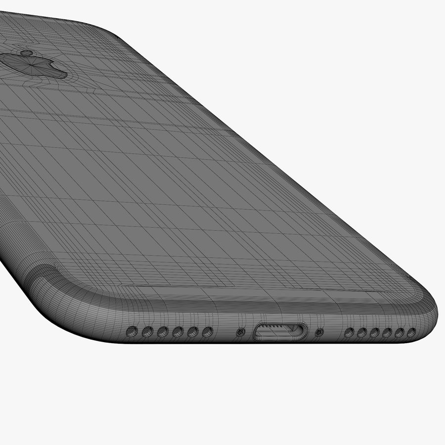 Apple iPhone 7 Jet Black and Black royalty-free 3d model - Preview no. 33