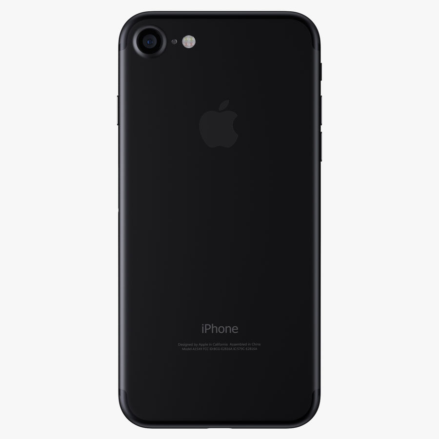 Apple iPhone 7 Jet Black and Black royalty-free 3d model - Preview no. 7