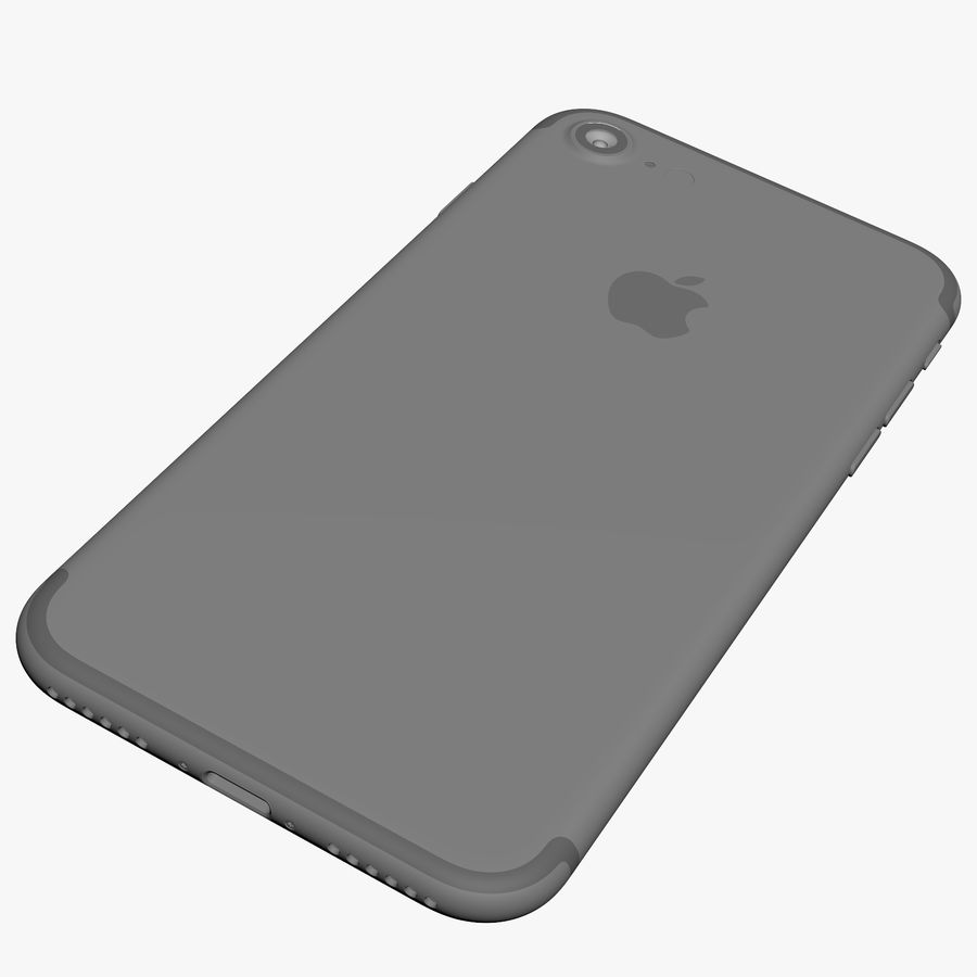 Apple iPhone 7 Jet Black and Black royalty-free 3d model - Preview no. 23