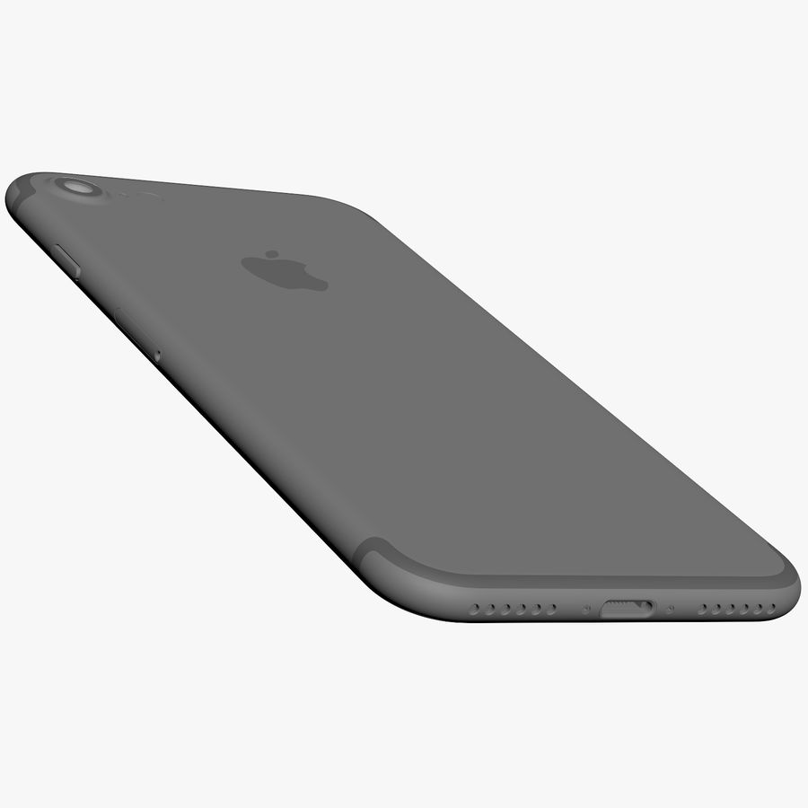 Apple iPhone 7 Jet Black and Black royalty-free 3d model - Preview no. 17