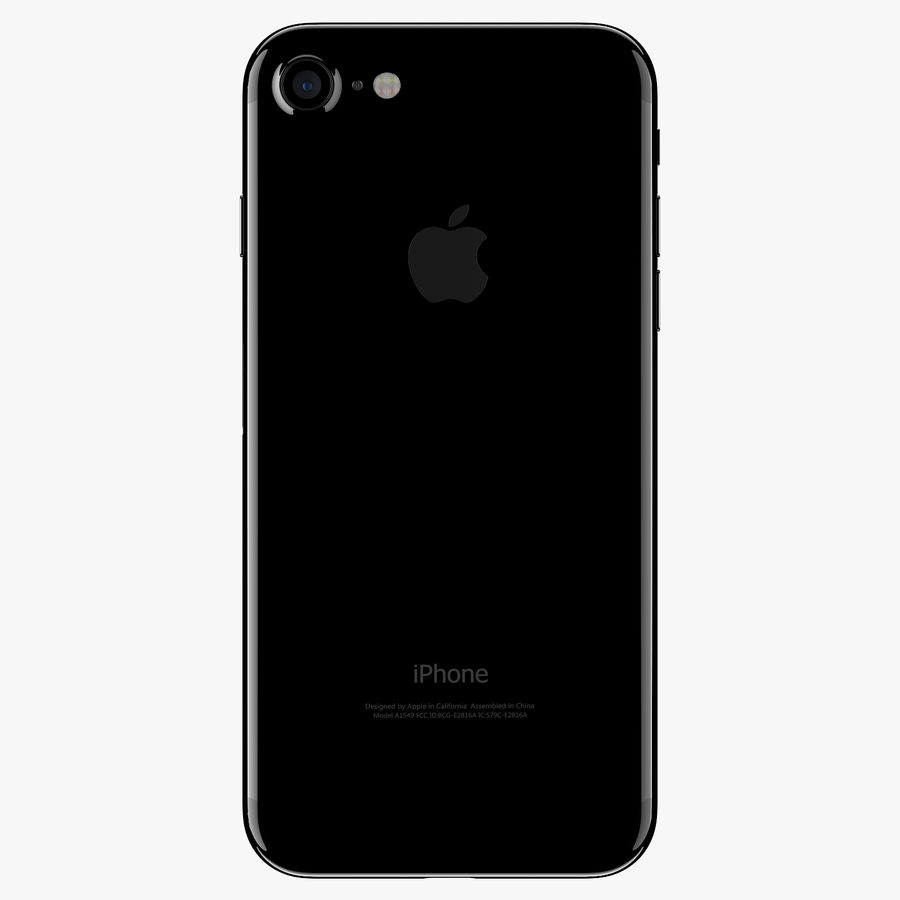 Apple iPhone 7 Jet Black and Black royalty-free 3d model - Preview no. 5
