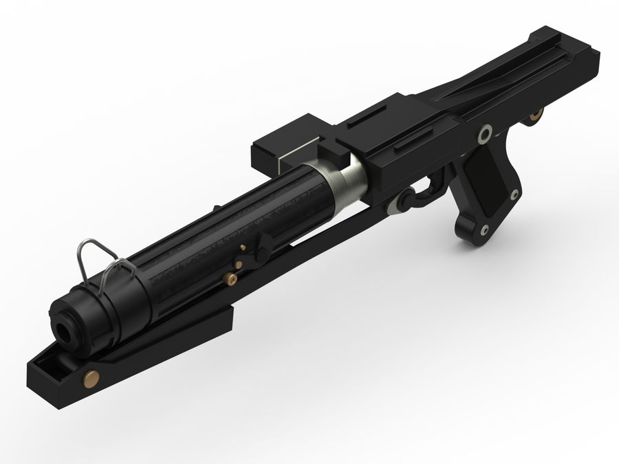 Star WARS DC-15s Blaster (3D Printable) royalty-free 3d model - Preview no. 2