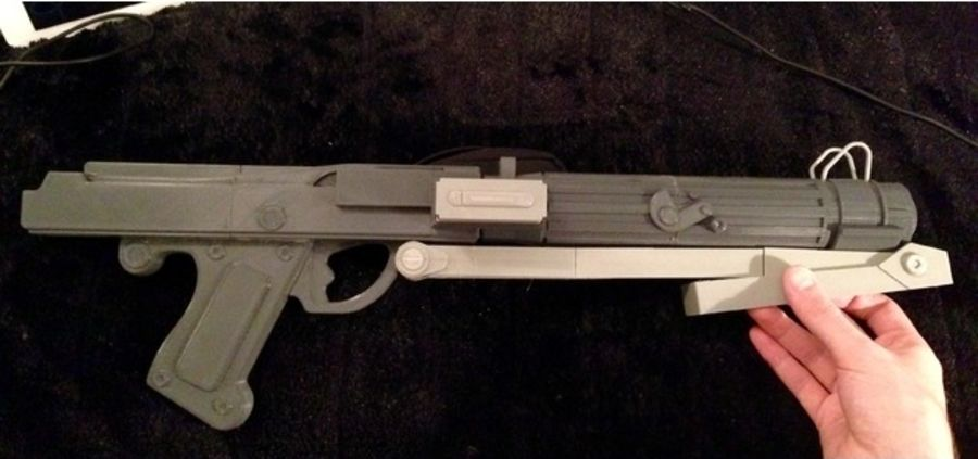 Star WARS DC-15s Blaster (3D Printable) royalty-free 3d model - Preview no. 9