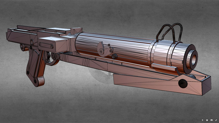 Star WARS DC-15s Blaster (3D Printable) royalty-free 3d model - Preview no. 13