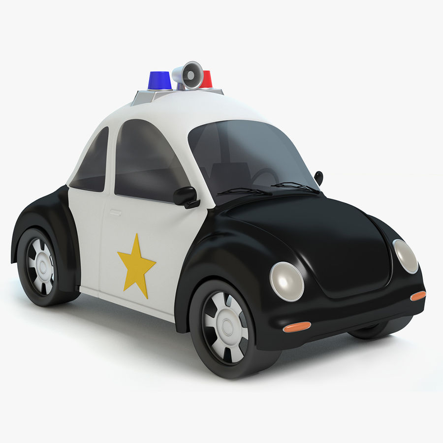 Carro De Policia Dos Desenhos Animados Modelo 3d 19 Max Obj