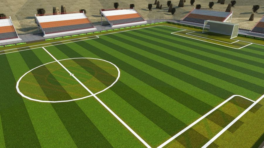 Soccer Stadium 3 royalty-free 3d model - Preview no. 5