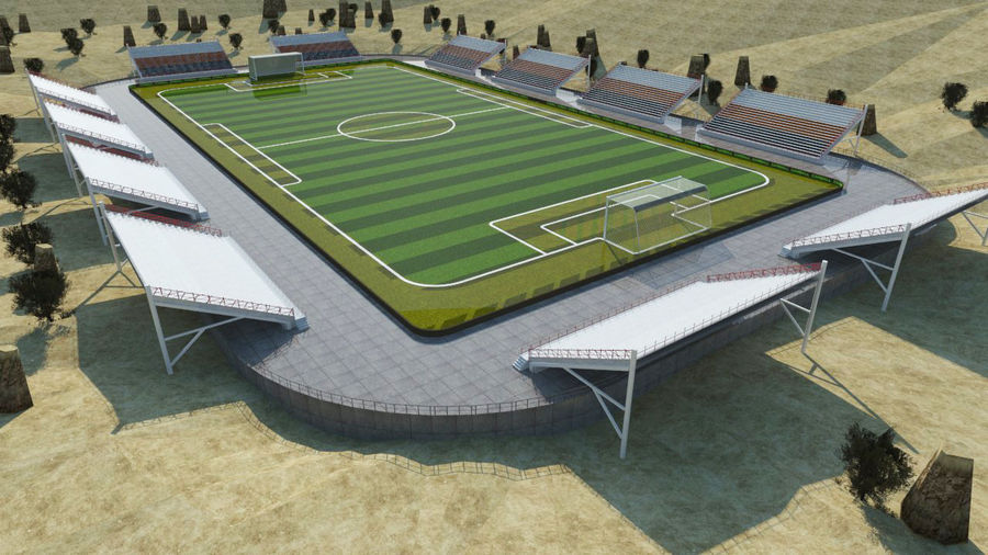 Soccer Stadium 3 royalty-free 3d model - Preview no. 8