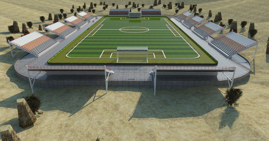 Soccer Stadium 3 royalty-free 3d model - Preview no. 6