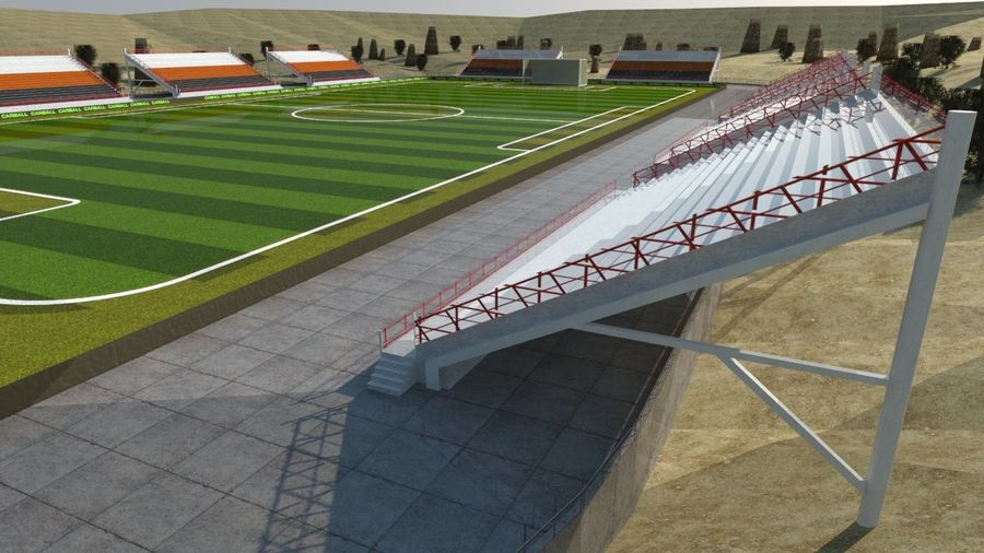 Soccer Stadium 3 royalty-free 3d model - Preview no. 3