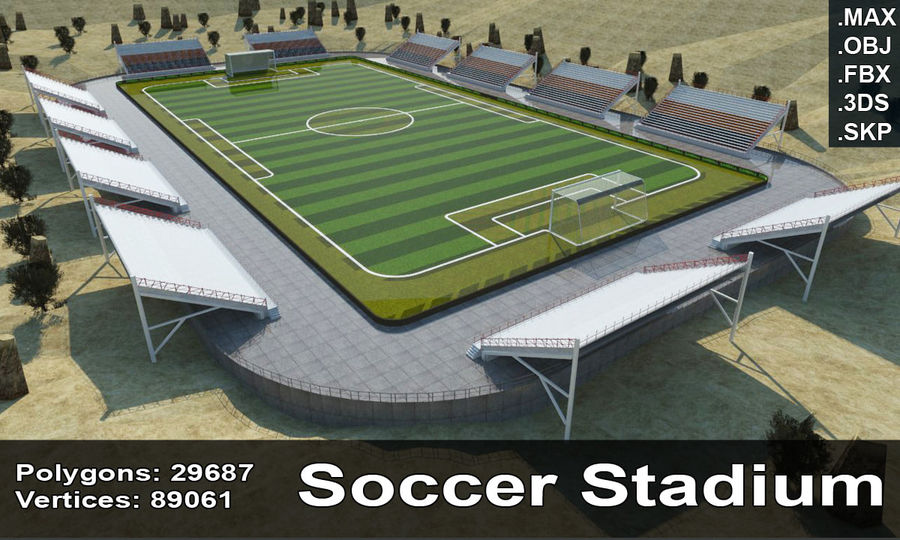 Soccer Stadium 3 royalty-free 3d model - Preview no. 1